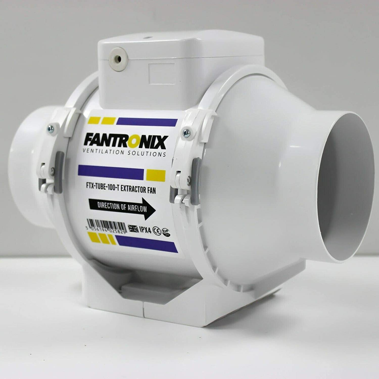 Fantronix FTX-TUBE-100-T Inline Extractor Fan with Overrun Timer